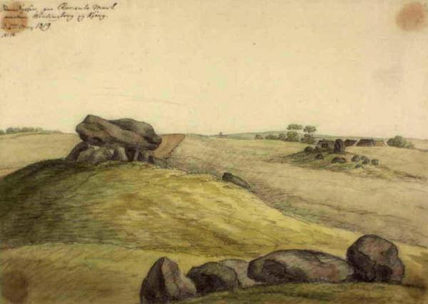 B   Steendysser paa Remkule Mark  mellem Wordingborg og Kjoeng d 27 may 1819  Ole Joergen Rawert  1819