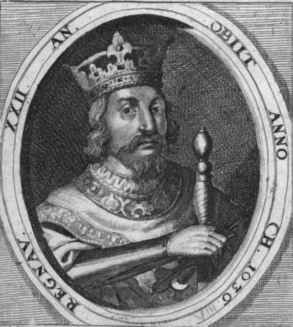 Knud den Store  Det Kongelige Bibliotek  Portraetsamlingen 1685
