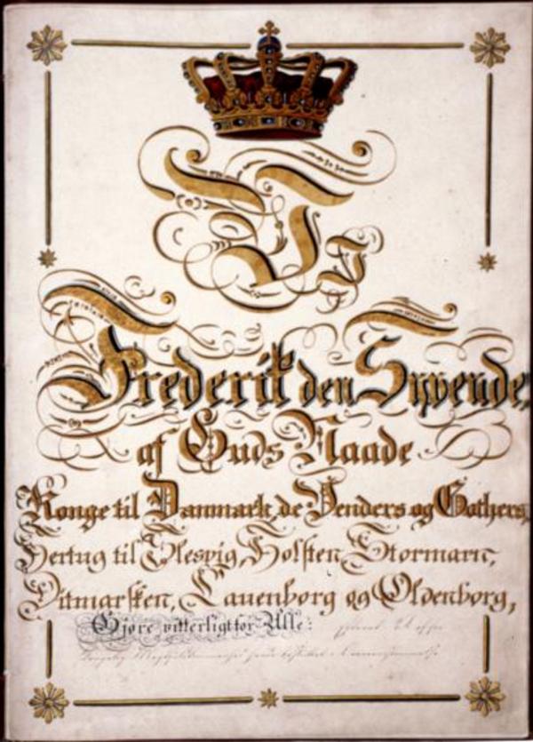Grundloven 1849 forside