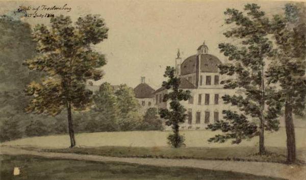 Fredensborg Slot  Ole Joergen Rawert  1840