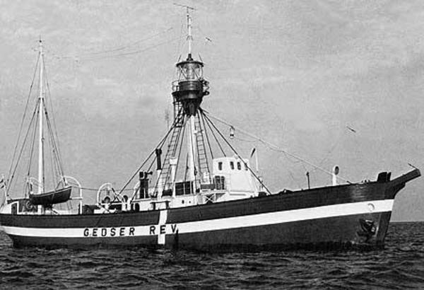 Fyrskib XVII Gedser Rev  c  1948
