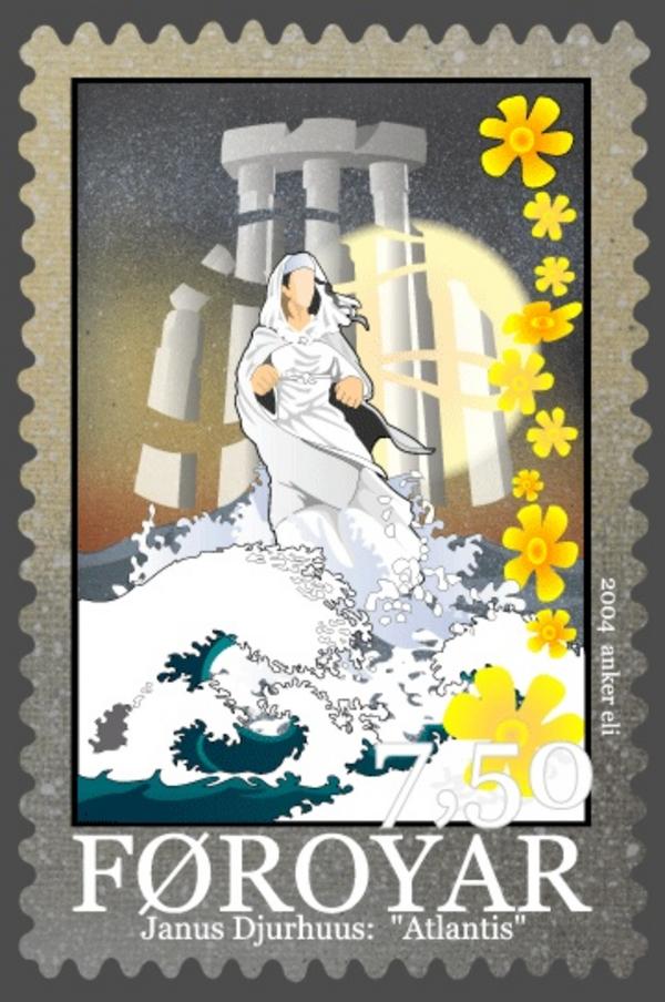 WikimediaCommons Faroestamp493Djurhuuspoems atlantis
