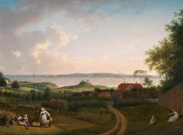 Jens Juel   Landskab ved OEresund  1800