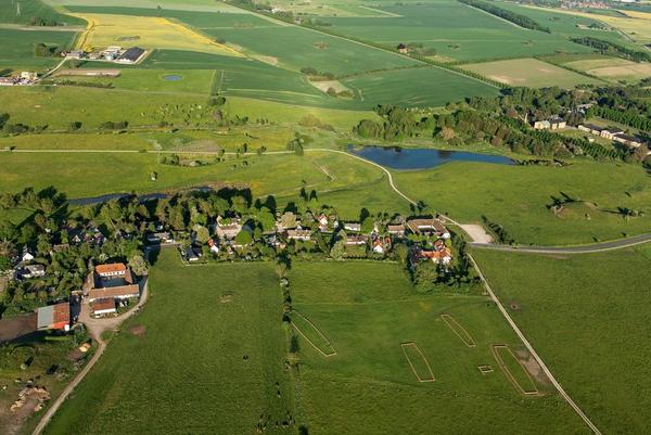 Lokalhistorie  Lejre  Luftfoto af landskab  Ole Malling