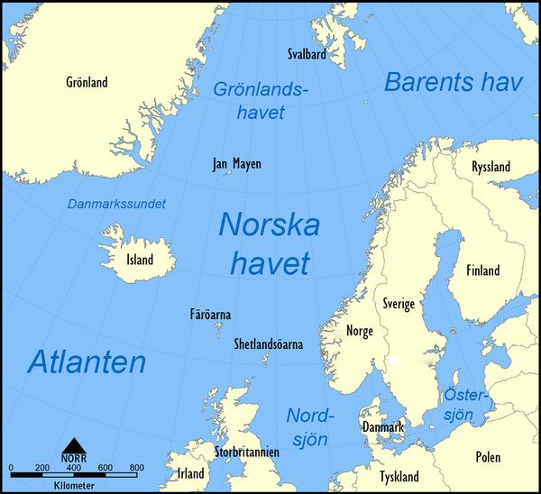 Norwegian Sea map sv  wikimedia