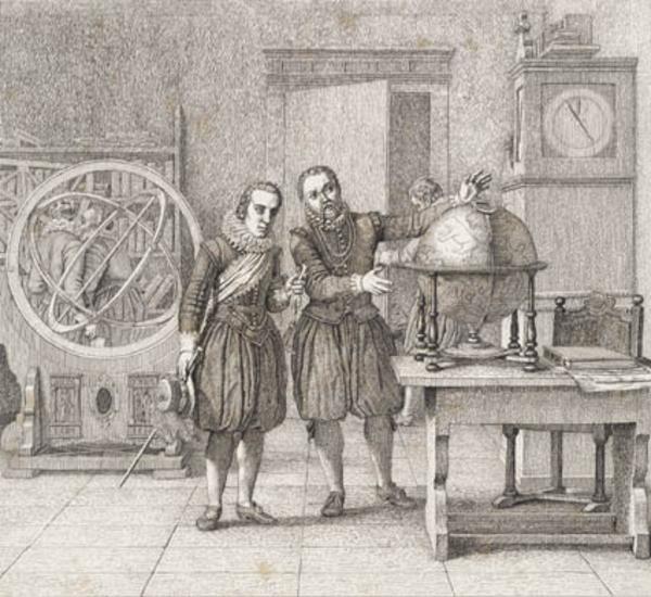 kks2591  Christian 4  og Tycho Brahe  Statens museum
