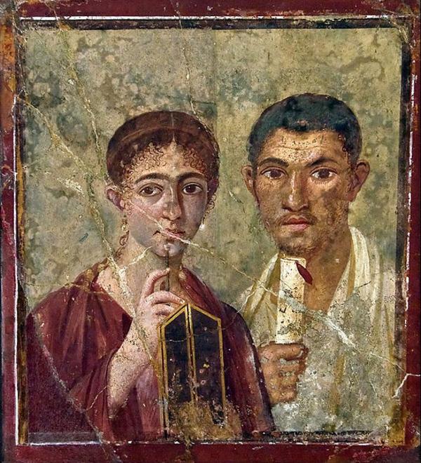 Anonimski  2014  Wikimedia Commons  Pompeii couple