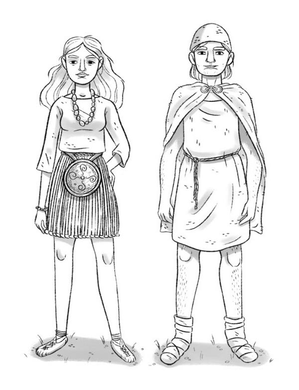Bronzealder toej illustration