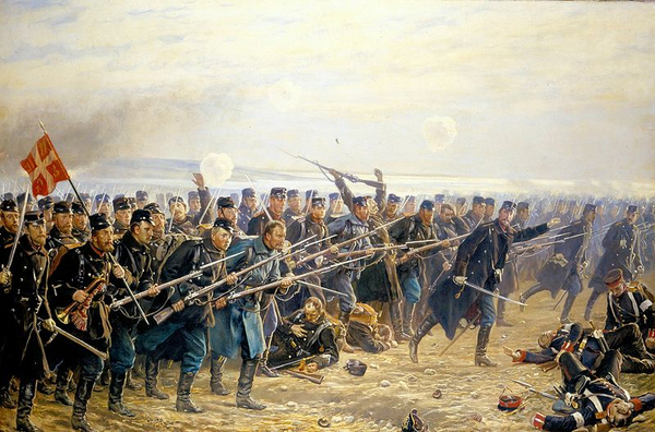 Historiebrug og 1864   Vilhelm Rosenstand  1894  Villy Fink Isaksen  2014  Wikimedia Commons     public domain 1