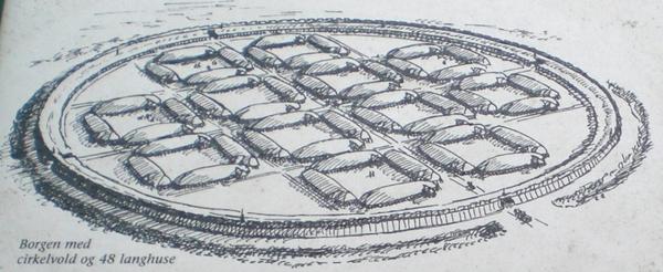 Vikingeborgen Aggersborg med cirkelvold og 48 langhuse 01