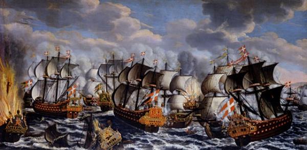 Battle in koege bay claus moinichen 1686