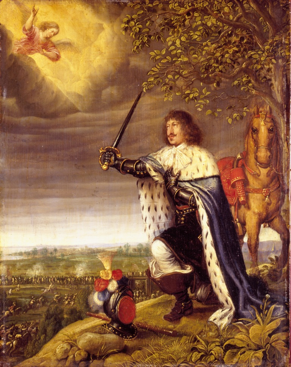 Slaget ved Nyborg i november 1659 af Wolfgang Heinbach  Originalen findes i Kongernes Samling  Rosenborg  lille