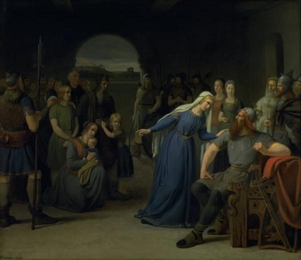 thyra og gorm  Gorm den gamle  Statens museum