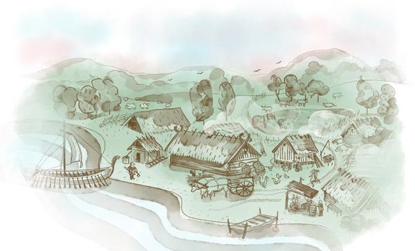 svenskhistoria bild4 vikingaby